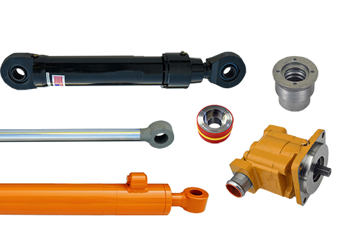 Cylinder Assemblies, Components, & Hydraulic Pumps