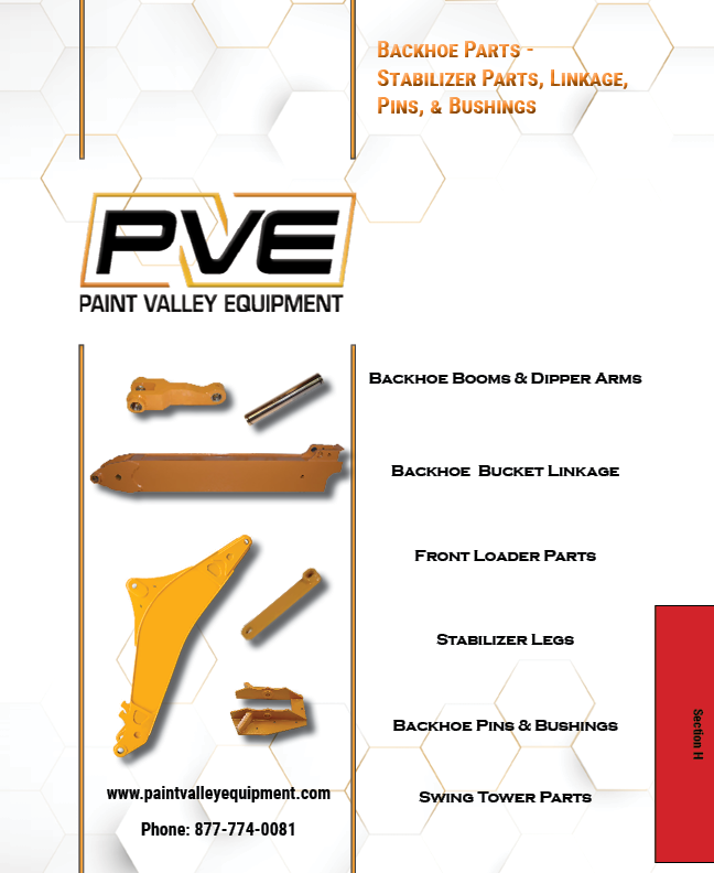 Loader Backhoe Parts, Links, Pins & Bushings - Paint Valley