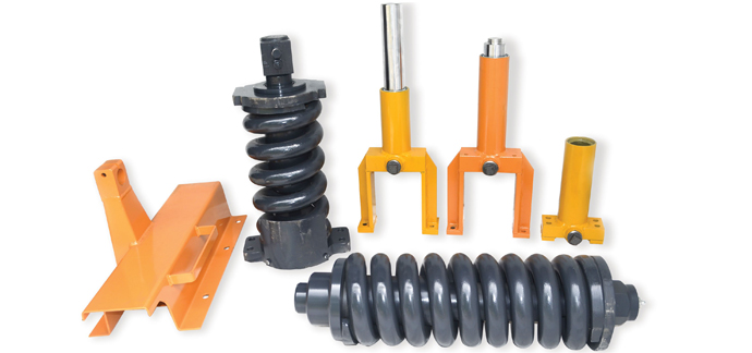 Track Adjusters, Springs, Track Frames and Wear Parts