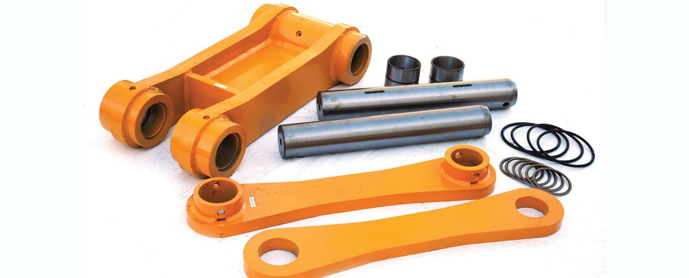 Excavator Bucket Linkage Parts, Pins & Bushings - Paint